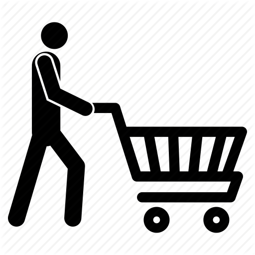 graphic download Shopping Trolley Clipart Man