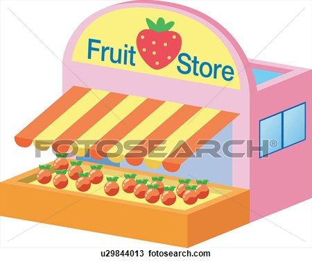 black and white stock Grocery picture . Supermarket clipart mini mart