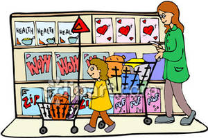 svg free library A and grocery royalty. Supermarket clipart mother daughter shopping.