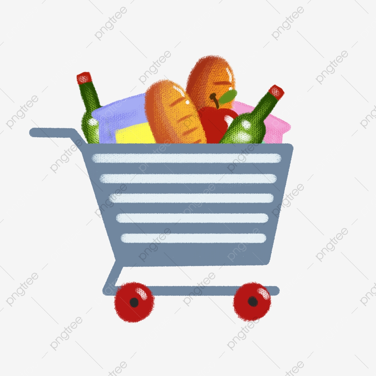 image free Cartoon to buy food. Supermarket clipart mother daughter shopping.