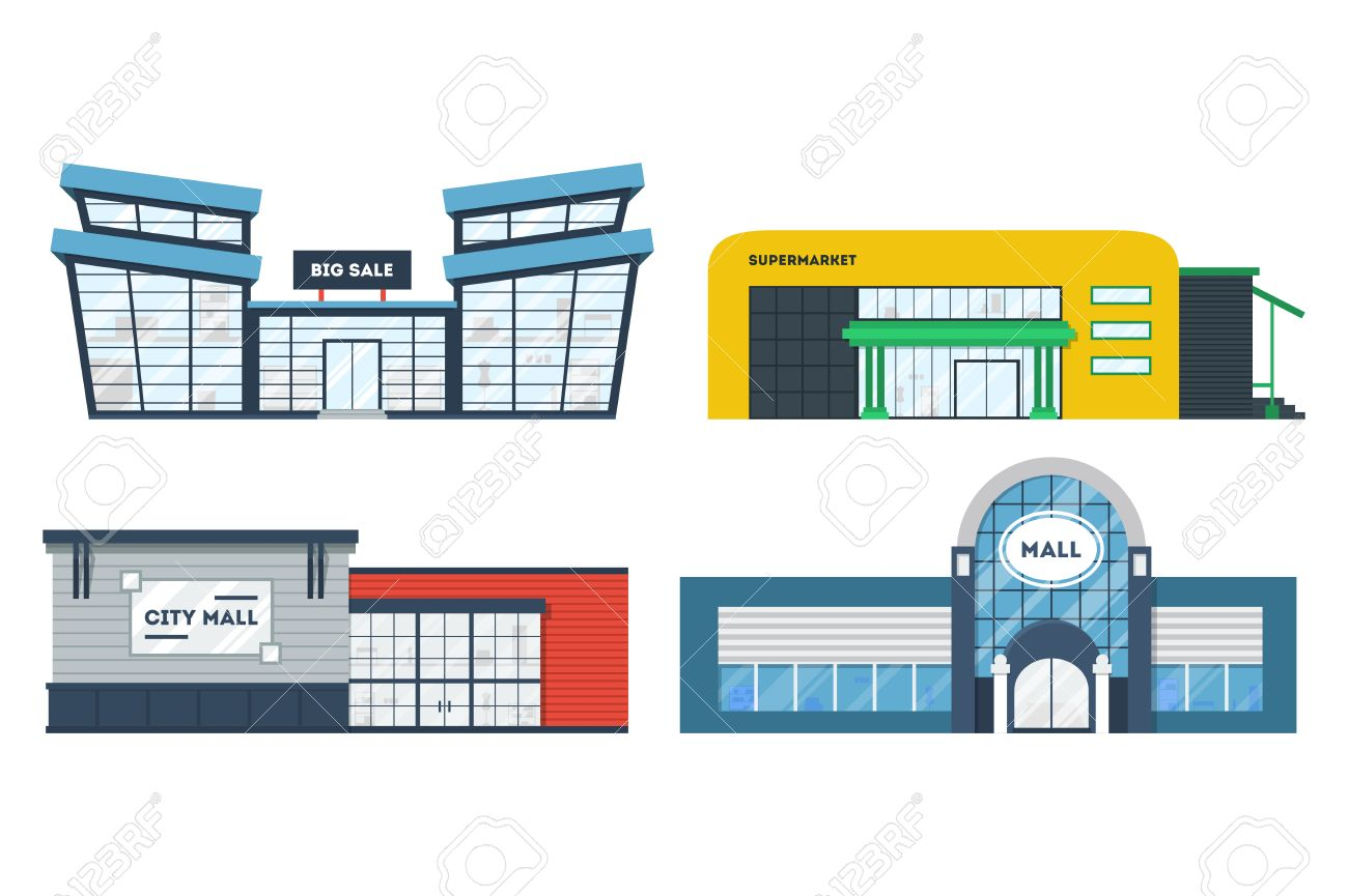 png Business building free download. Supermarket clipart municipal hall.