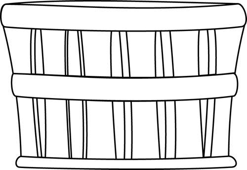 graphic library library Supermarket clipart outline. Black and white basket