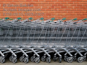 clip stock Shopping carts a stock. Supermarket clipart outside.