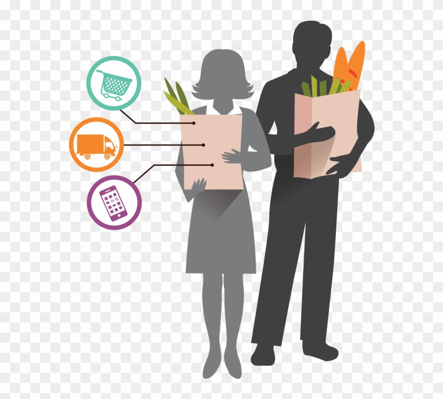 banner black and white Supermarket clipart people. Grocery shop