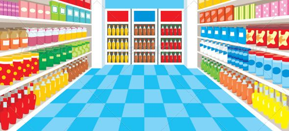 svg freeuse Supermarket clipart perspective. Background in marketing internet.