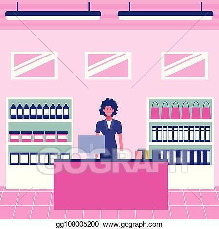 clip art library download Vector art cash register. Supermarket clipart pink