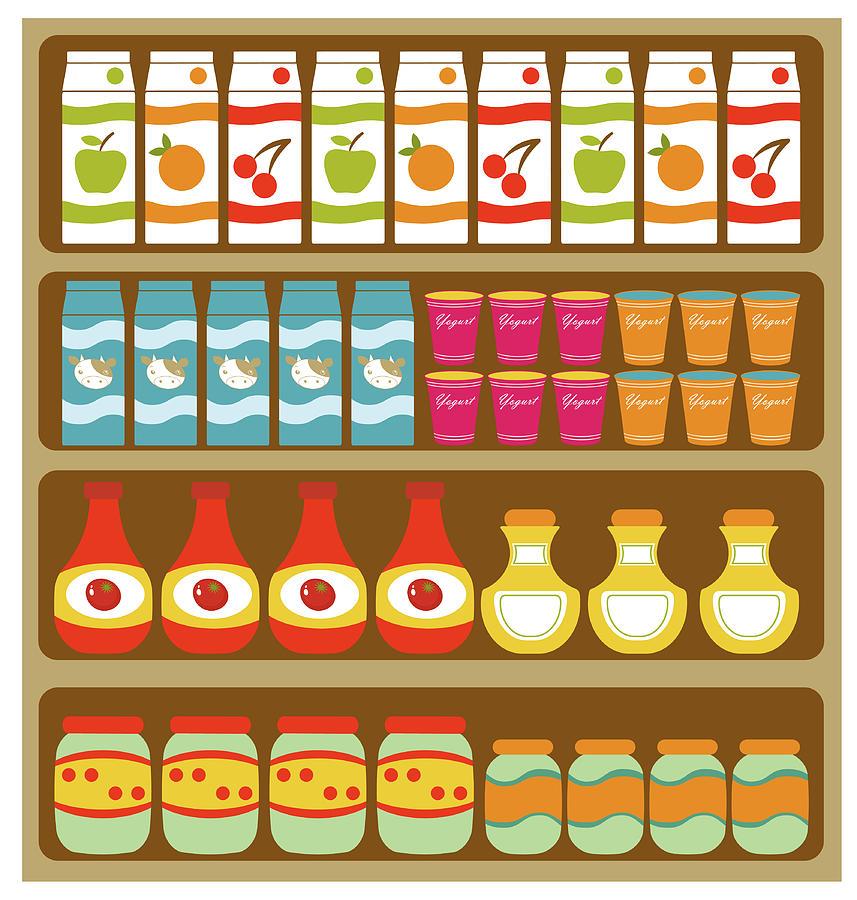 clip free stock Grocery store shelves . Supermarket clipart pixel art