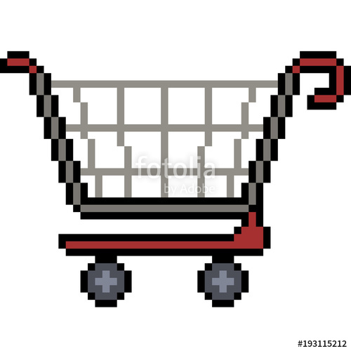clipart black and white Supermarket clipart pixel art. Vector shopping stock image