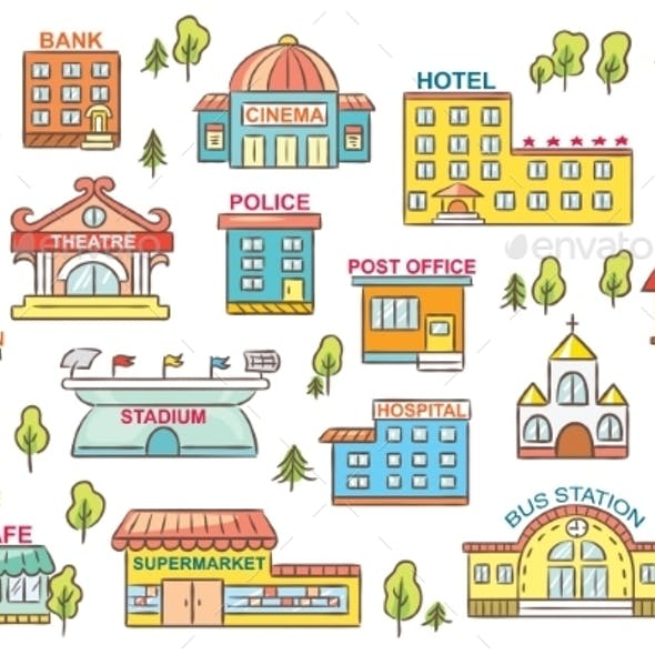 vector royalty free library Vectors from graphicriver . Supermarket clipart post office building.