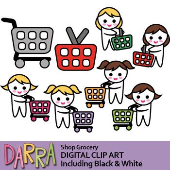 clipart free Grocery shopping clip art. Supermarket clipart purchase