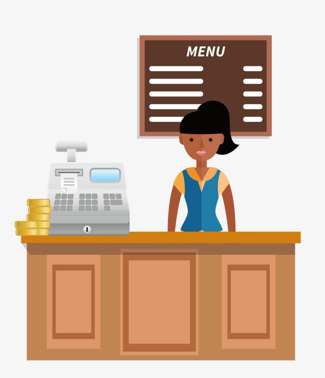 png transparent download . Supermarket clipart restaurant cashier