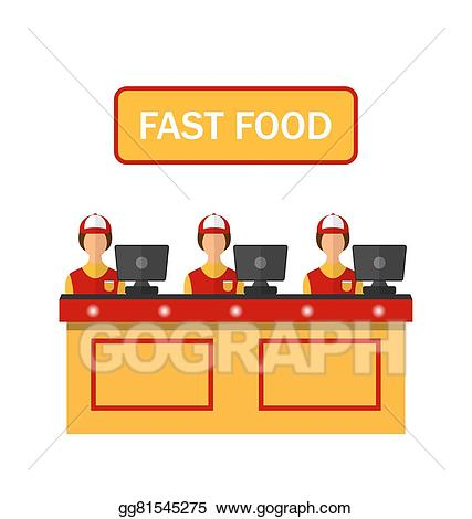 banner library library Vector cashiers with cash. Supermarket clipart restaurant cashier.