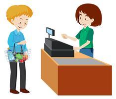 clipart free Free vector art downloads. Supermarket clipart restaurant cashier