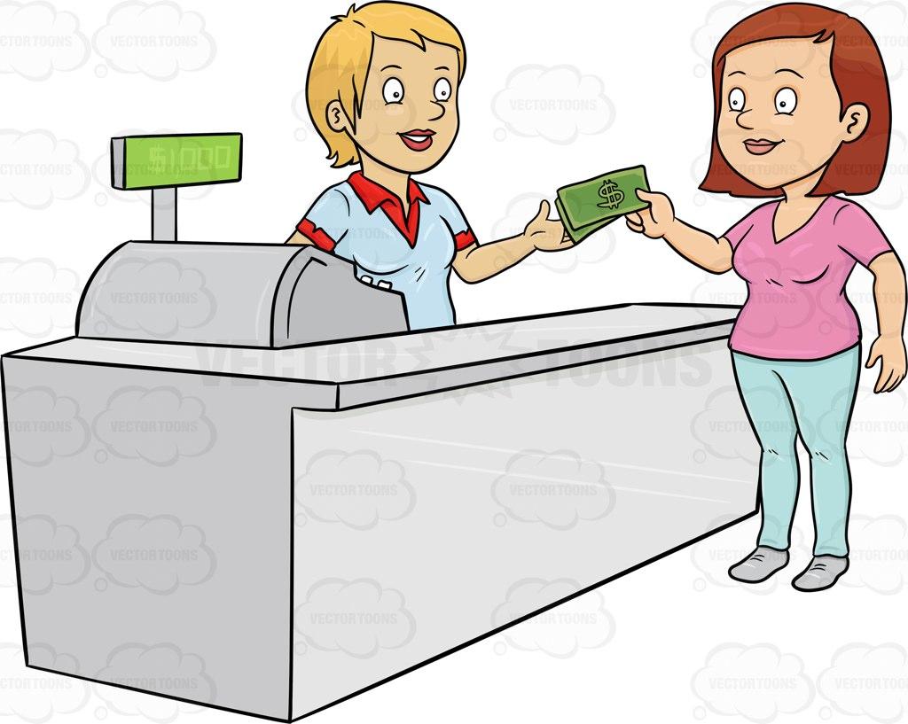 png transparent download Supermarket clipart restaurant cashier.