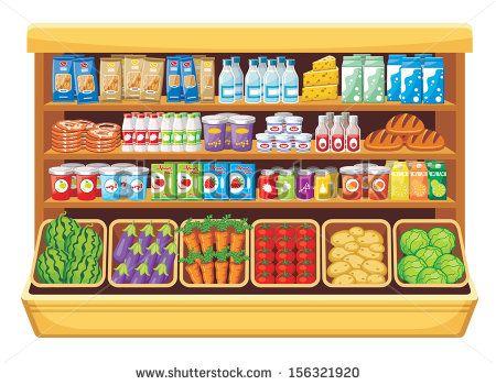 png library stock Vector stock shelves . Supermarket clipart shelf