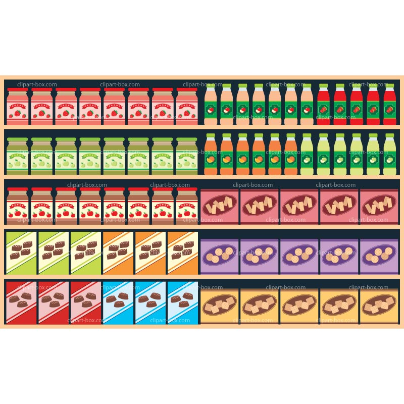 png transparent library Supermarket clipart shelf. Free cliparts download clip