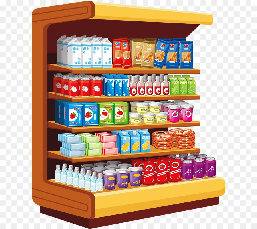 graphic royalty free Cartoon food . Supermarket clipart shelf