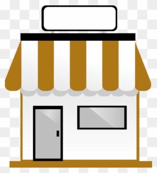 image black and white stock Supermarket clipart shopfront. Cartoon shop front full