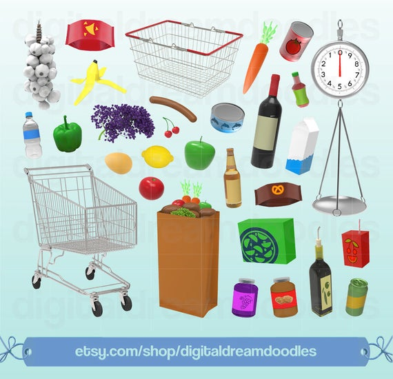 png stock Grocery clip art scale. Supermarket clipart shoping