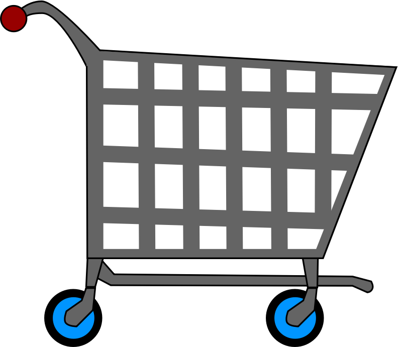 clipart royalty free library Supermarket clipart shopping area. Basic cart medium image
