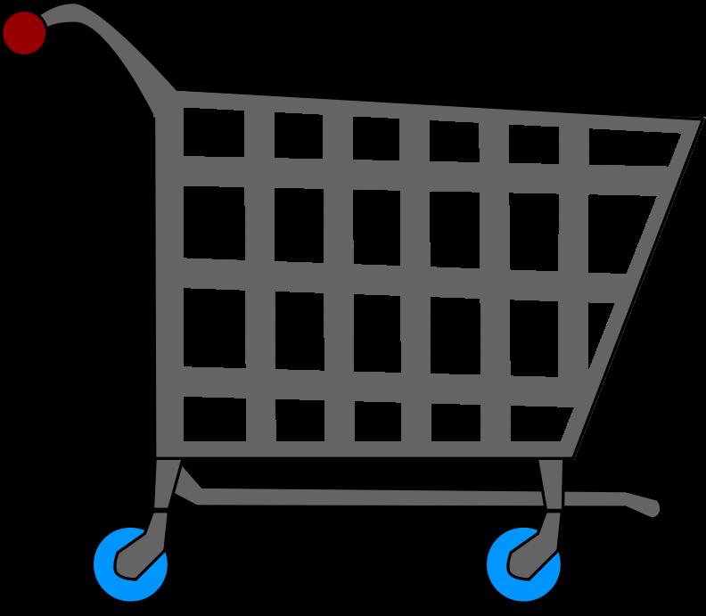 clipart royalty free library Supermarket clipart shopping area. Basic cart medium image.