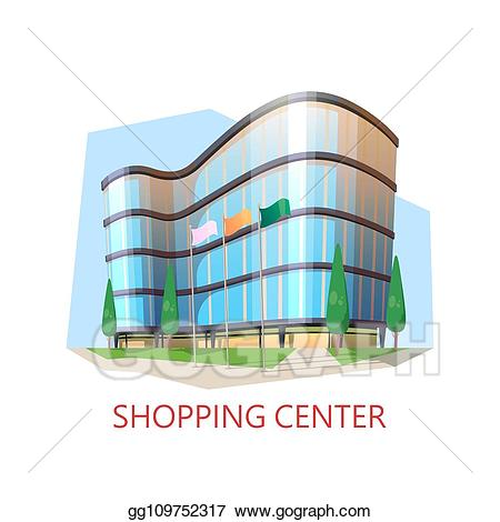 picture transparent library Supermarket clipart shopping centre. Vector stock building center.