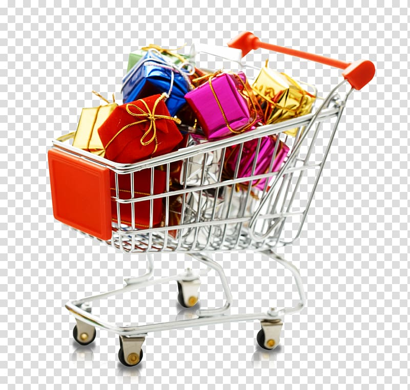 stock Cart gift . Supermarket clipart shopping centre.