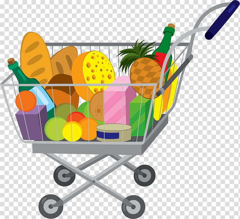 graphic transparent library Grocery store bags trolleys. Supermarket clipart shopping trolly