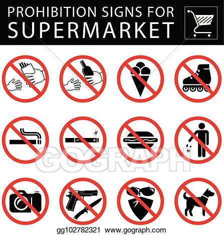 image download Vector art set of. Supermarket clipart sign