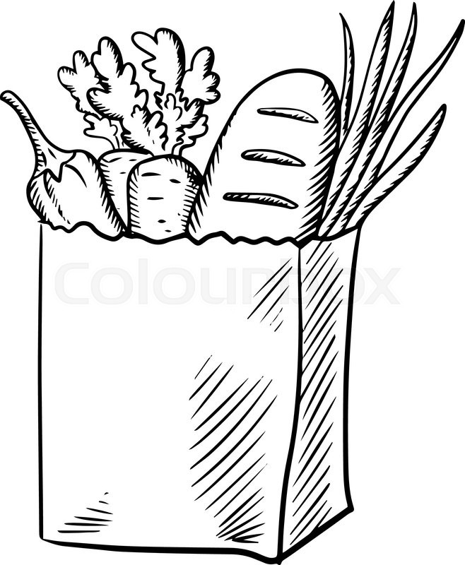 image freeuse download Drawing free download best. Supermarket clipart sketch.