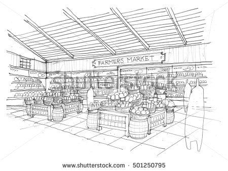 free download Hand copied of design. Supermarket clipart sketch.