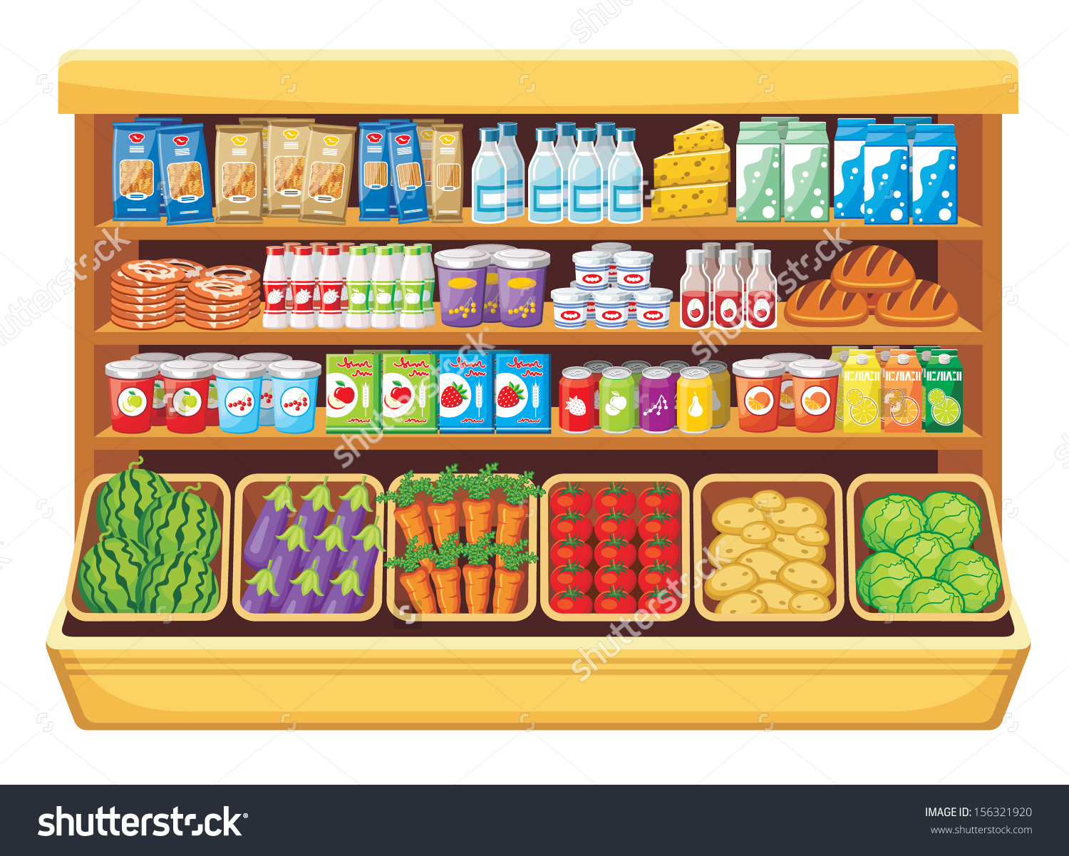 royalty free download  clipartlook. Supermarket clipart stall