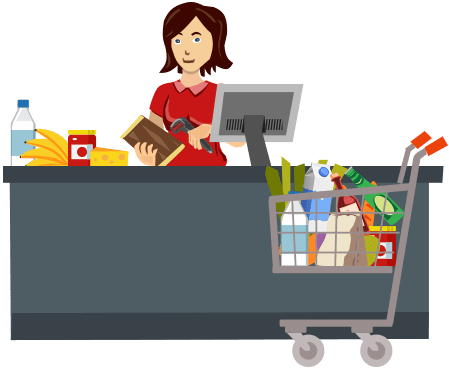 banner transparent Supermarket clipart store employee. Grocery multiple retail chain