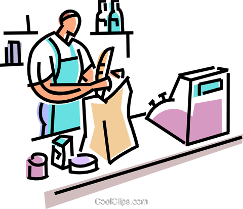clipart freeuse Supermarket clipart store employee. Worker clip art best