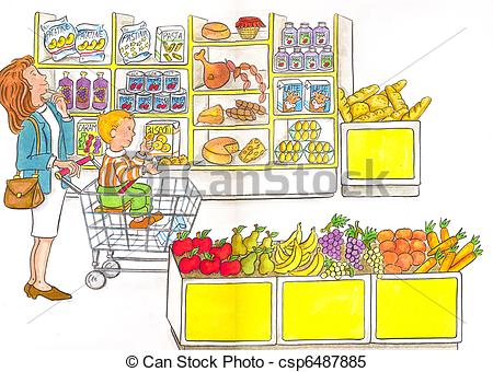 clipart library stock Shopping cart panda free. Supermarket clipart suppermarket