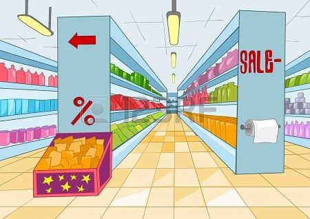 black and white Stock stuff to buy. Supermarket clipart vector