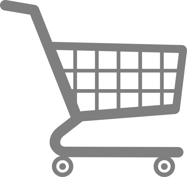 vector black and white stock Supermarket clipart vector. Grocery cart icons png