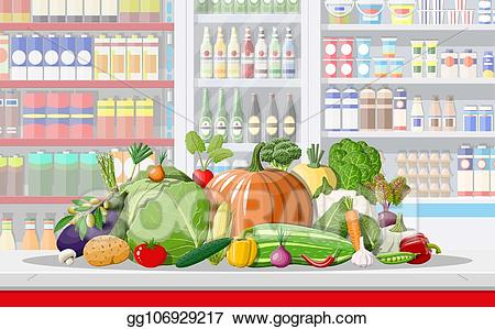 clip library stock Supermarket clipart vegetable shop. Clip art vector store