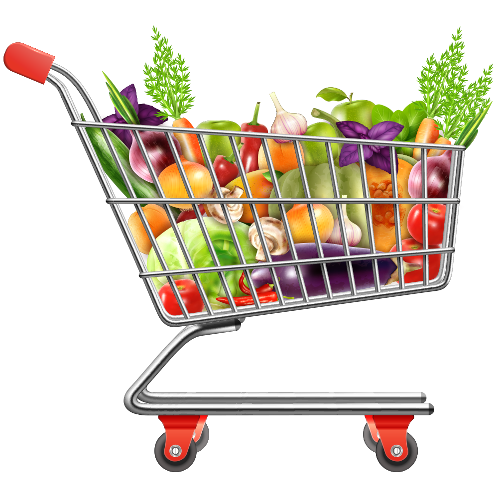 picture free download Shopping cart vegetables transprent. Supermarket clipart vegetable shop