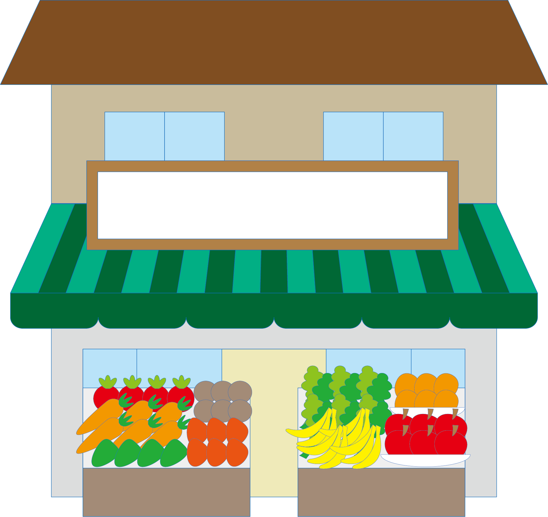 clip art library download Supermarket clipart vegetable shop. Convenience logo computer file