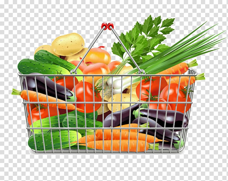 vector freeuse library Supermarket clipart vegetable shop. Shopping cart a basket