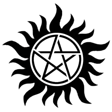 clipart black and white library supernatural svg anti possession #116009008