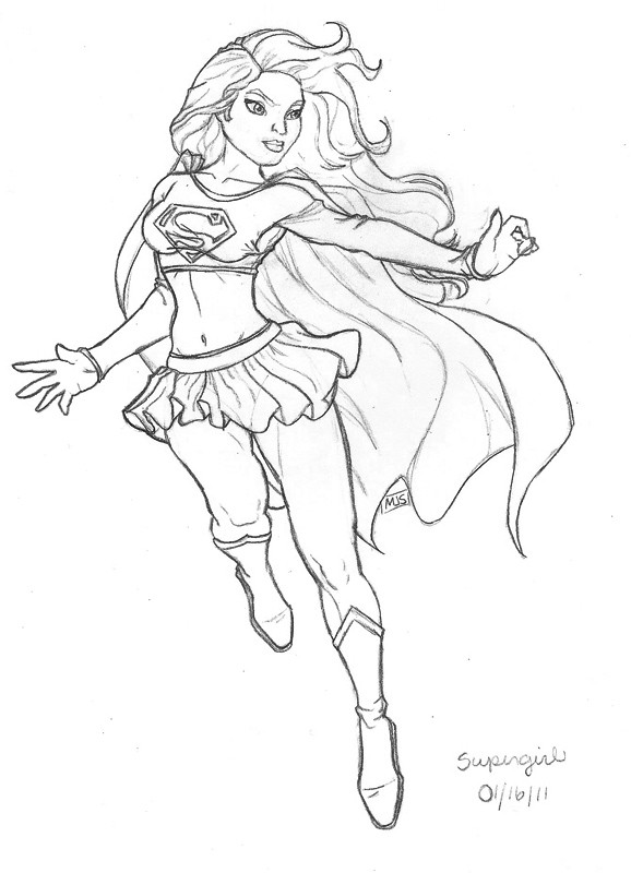 picture royalty free stock Superwoman drawing. Sketch at paintingvalley com
