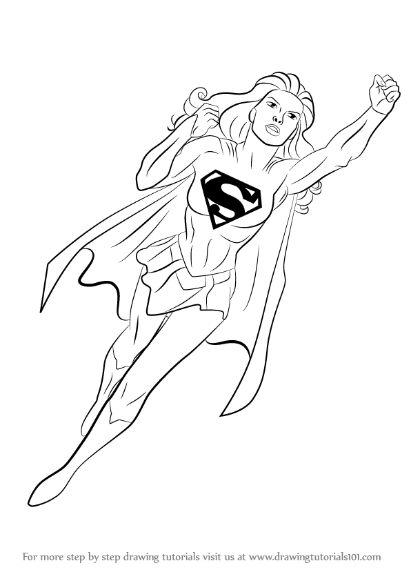 png free download Superwoman drawing. Learn how to draw