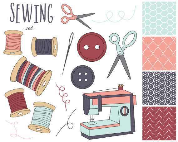 black and white library Supplies clipart sewing. Free cliparts download clip