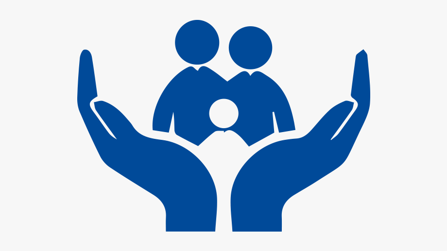 vector black and white Family life insurance free. Support clipart