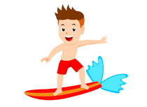 jpg black and white download Surf clipart. Sports free surfing to.