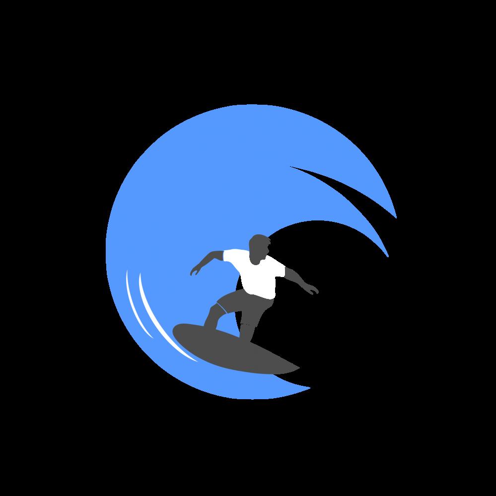 png freeuse library Surf Design Logo