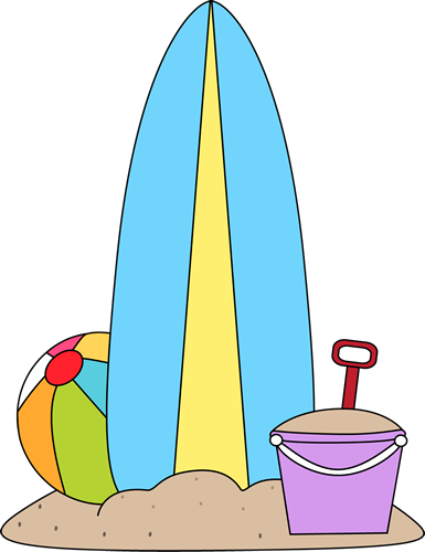 clip art library And beach toys summer. Surfboard clipart