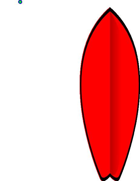 clip art Red Surfboard Clip Art at Clker